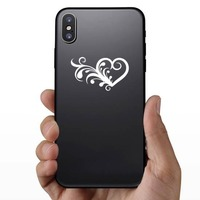Frilly Heart Sticker on a Phone example