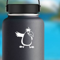 Funny Cockatoo Sticker on a Water Bottle example