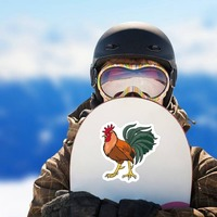 Gamecock Mascot Sticker on a Snowboard example