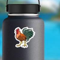 Gamecock Mascot Sticker on a Water Bottle example
