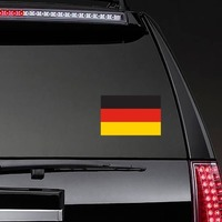 Germany Flag Sticker on a Rear Car Window example