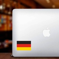 Germany Flag Sticker on a Laptop example