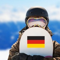 Germany Flag Sticker on a Snowboard example