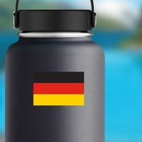 Germany Flag Sticker on a Water Bottle example