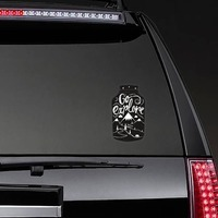Go Explore Jar Sticker on a Rear Car Window example