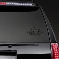 Go Wild Teepee Sticker on a Rear Car Window example