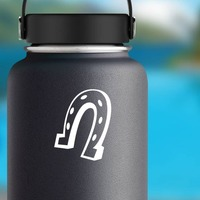 Good-Looking Horseshoe Sticker on a Water Bottle example