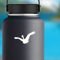 Goose Bird Sticker on a Water Bottle example