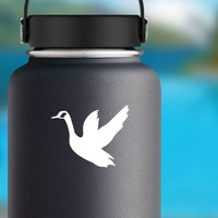 Goose Geese Bird Sticker on a Water Bottle example
