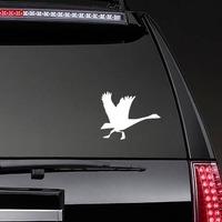 Goose Running Sticker on a Rear Car Window example