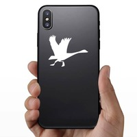 Goose Running Sticker on a Phone example