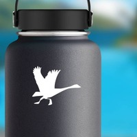 Goose Running Sticker on a Water Bottle example