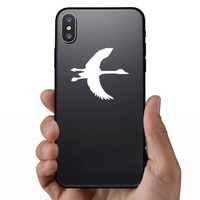 Goose With Long Neck Sticker on a Phone example