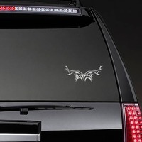 Gothic Border Wings Sticker on a Rear Car Window example