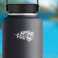 Gothic Design Sticker on a Water Bottle example