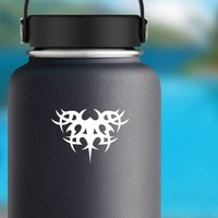 Gothic Tribal Sticker on a Water Bottle example