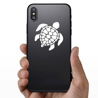 Graceful Sea Turtle Sticker on a Phone example
