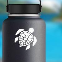 Graceful Sea Turtle Sticker on a Water Bottle example