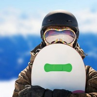 Green Band Aid Bandage Sticker on a Snowboard example