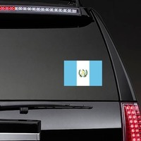 "Guatemala Flag Butterfly Car Bumper Sticker Decal /'/'SIZES/"""