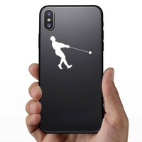 Hammer Throw Leaning Back Sticker on a Phone example