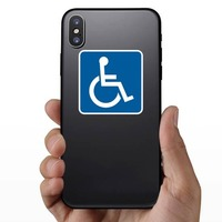 Handicapped Sticker on a Phone example