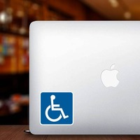 Handicapped Sticker on a Laptop example