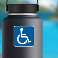 Handicapped Sticker on a Water Bottle example