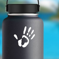 Handprint Sticker on a Water Bottle example
