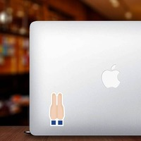 Hands Held Together Emoji Sticker on a Laptop example