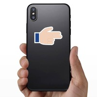 Hands Pointing With Two Fingers Thumb Up LH Emoji Sticker on a Phone example