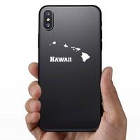 Hawaii And The Hawaiian Islands Sticker on a Phone example