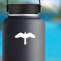 Hawk Birds Eye View Sticker on a Water Bottle example