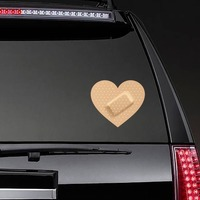 Heart Band Aid Bandage Sticker on a Rear Car Window example