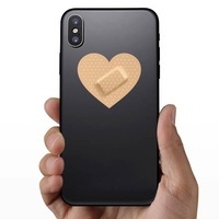 Heart Band Aid Bandage Sticker on a Phone example