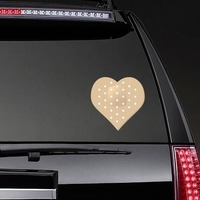 Heart Shaped Bandage Sticker on a Rear Car Window example
