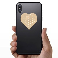 Heart Shaped Bandage Sticker on a Phone example