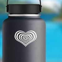 Heart Vortex Sticker on a Water Bottle example