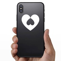 Heart With Upside Down Heart Sticker on a Phone example