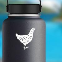 Hen Chicken Sticker on a Water Bottle example