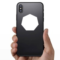 Heptagon Shape Sticker on a Phone example