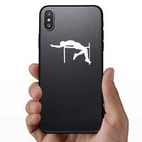High Jump Sticker on a Phone example