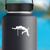 High Jump Sticker on a Water Bottle example