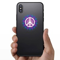 Hippie Peace Sticker on a Phone example
