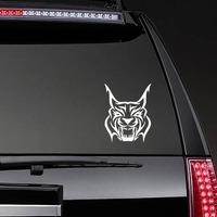 Hissing Lynx Sticker on a Rear Car Window example