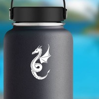 Honorable Dragon Sticker on a Water Bottle example