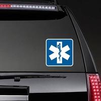Hospital Symbol Sticker on a Rear Car Window example
