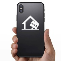 House With Sold Sign Sticker on a Phone example
