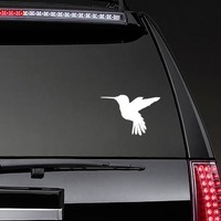 Hummingbird Flying Sticker on a Rear Car Window example