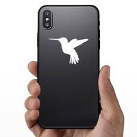 Hummingbird Flying Sticker on a Phone example